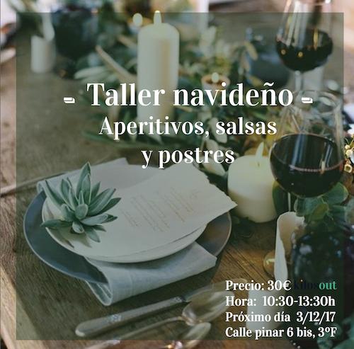 Recetas Taller Navideño: Aperitivos, Salsas y Postres