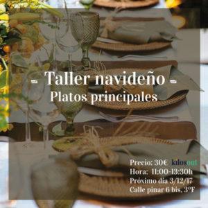 Recetas Taller Navideño: Platos Principales