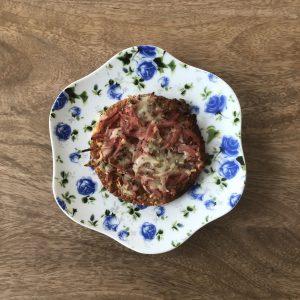 Pizzeta de jamón y queso KilosOut